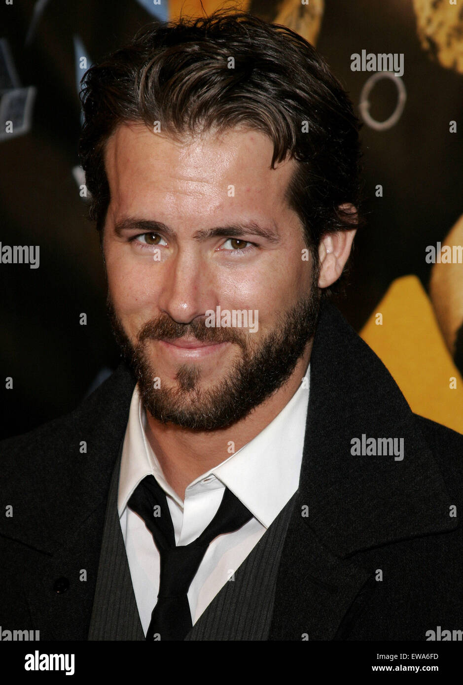 Ryan Reynolds attends the World Premiere of 'Smokin' Aces' held at the Grauman's Chinese Theater - Stock Image