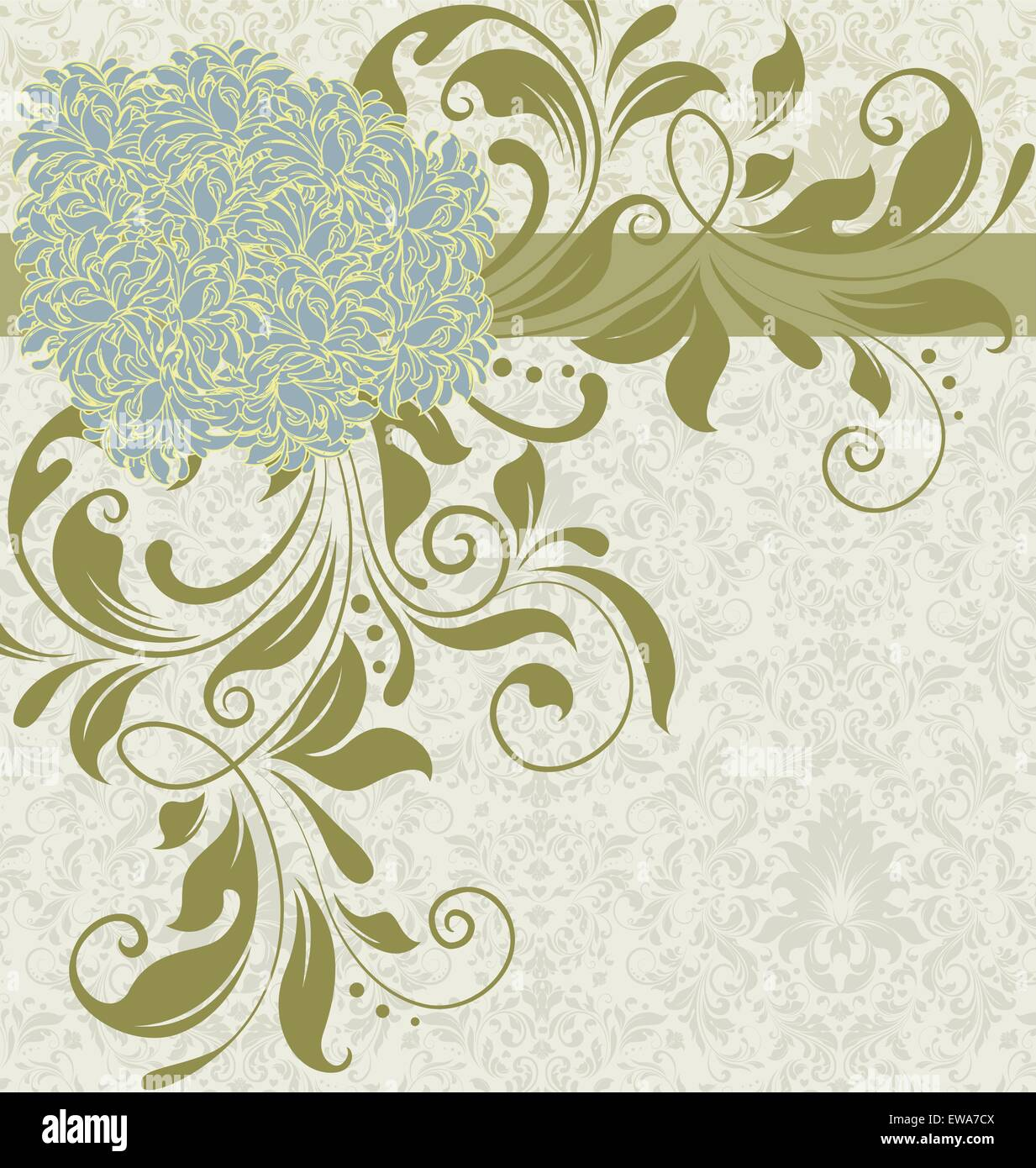 vintage background with ornate elegant retro abstract floral design