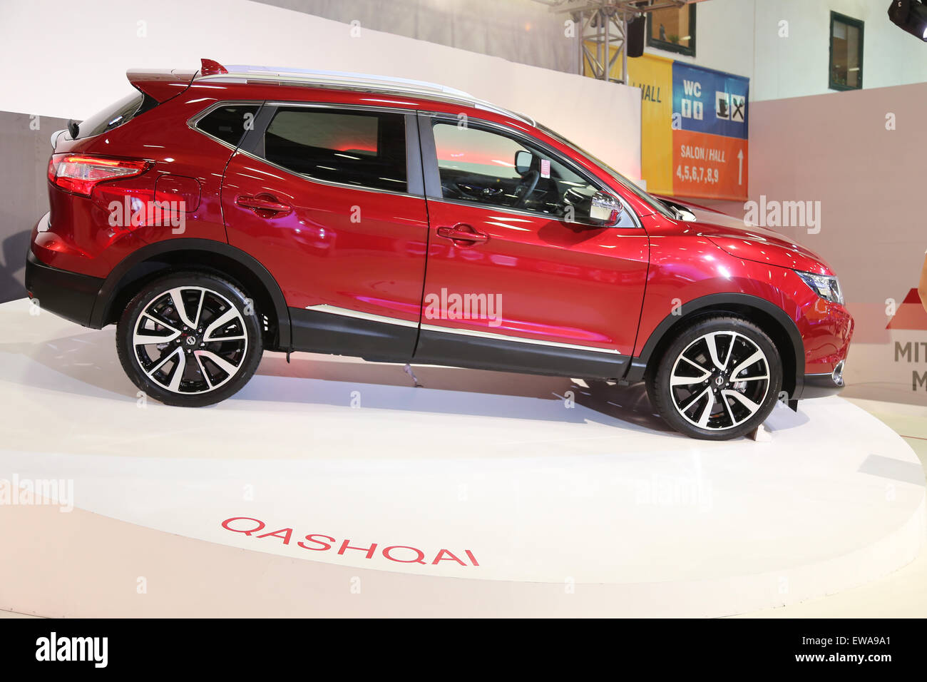 Nissan Qashqai Istanbul Autoshow 2015 - Stock Image