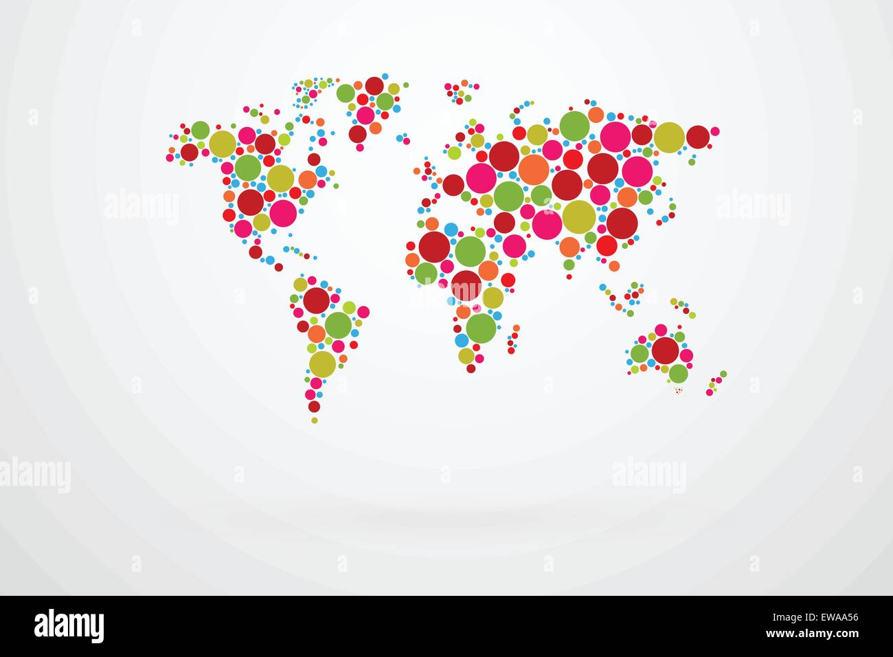 Colored dots world map vector stock vector art illustration colored dots world map vector gumiabroncs Gallery