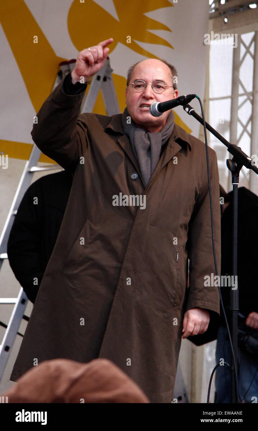 Gregor Gysi - Impressionen von der Demonstration 'Wir zahlen nicht fuer Eure Krise', 28. Maerz 2009, Berlin - Stock Image