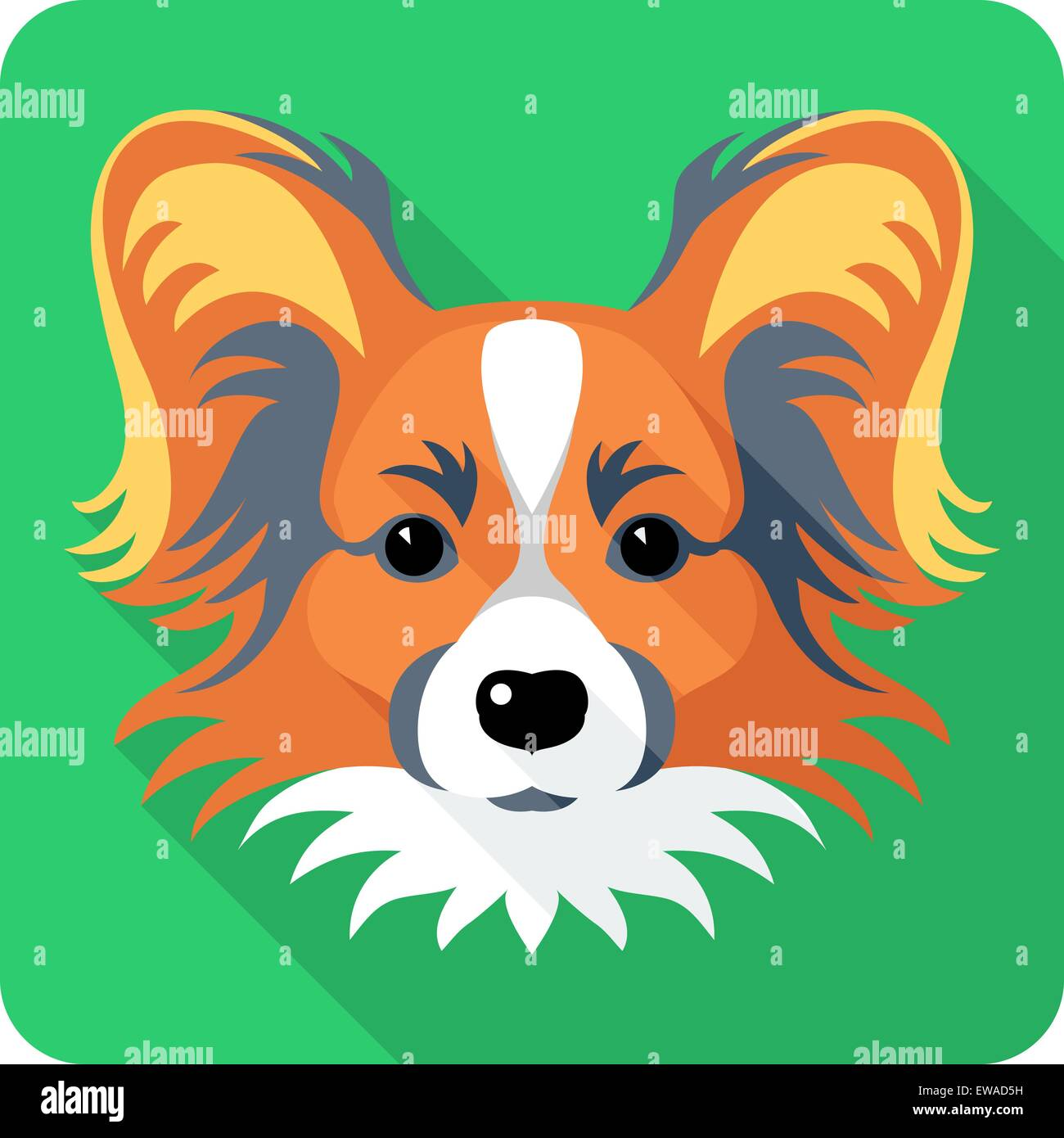dog Chinese Crested icon flat design - Stock Vector