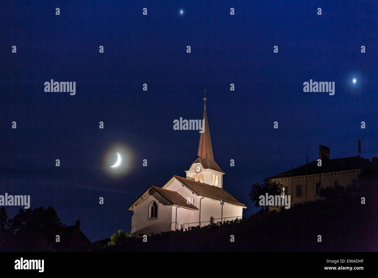Fechy, Switzerland 20 June  A conjunction of Venus, Jupiter
