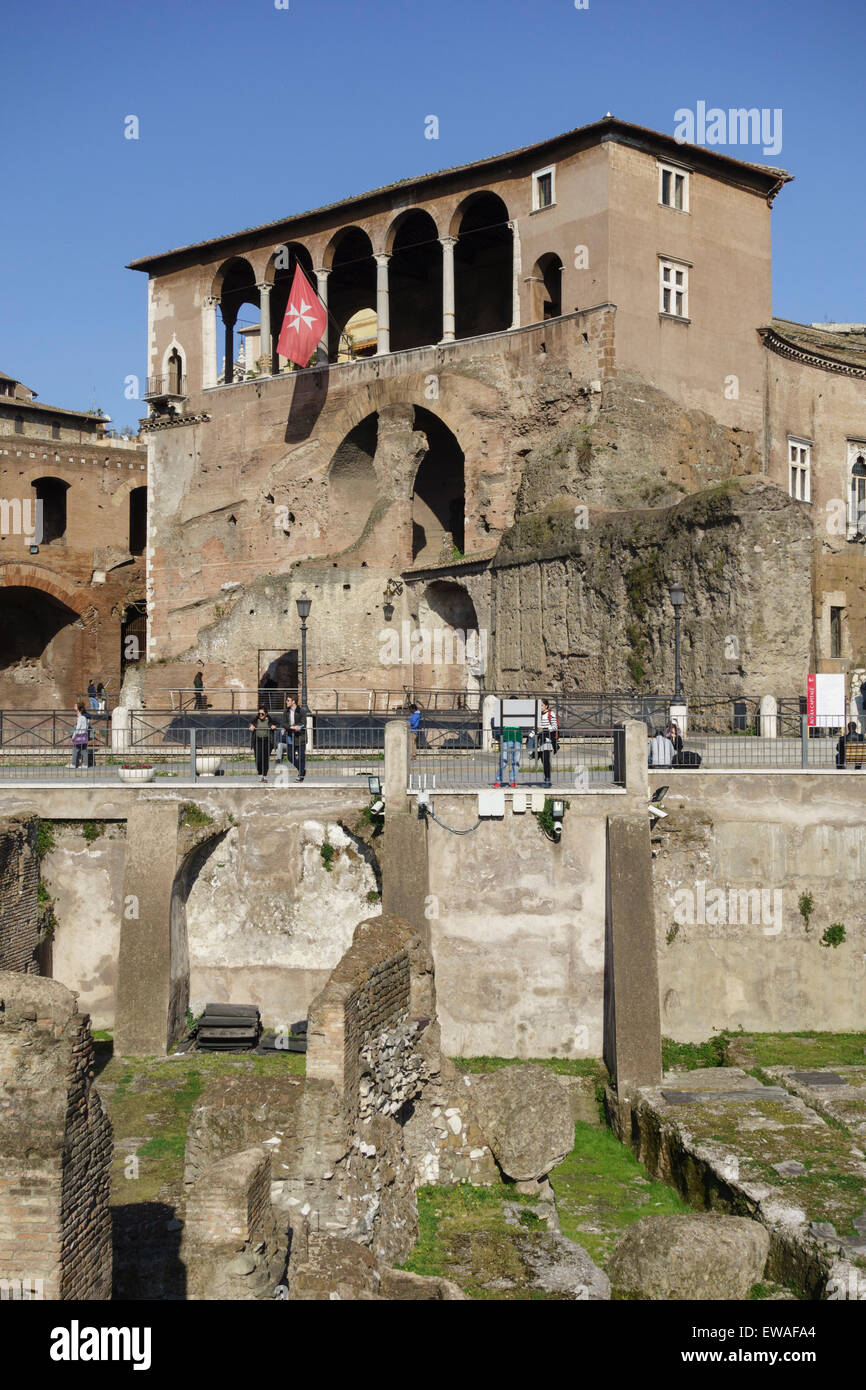 The House of the Knights of Rhodes in the Forum of Augustus Rome Italy Stock Photo