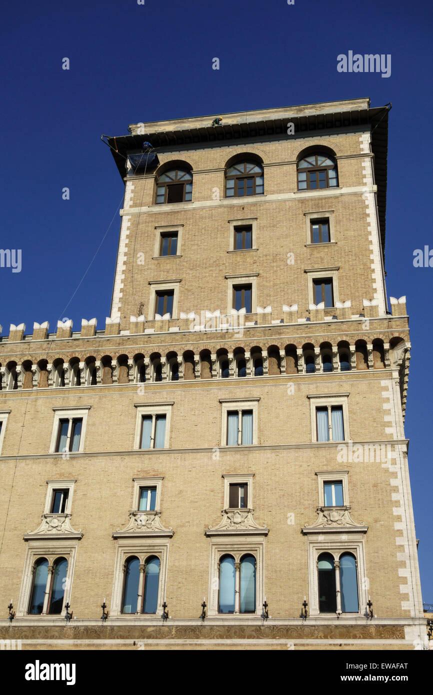 Palazzo Venezia renaissance palace on Piazza Venezia Rome Italy Stock Photo