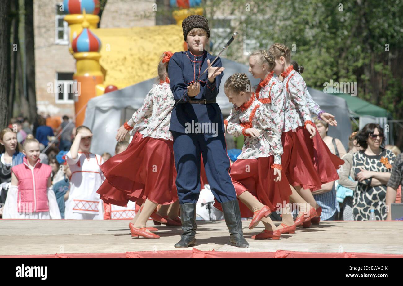 Electrougli Moscow Region Russia May 9 2014 Young Teen Dance