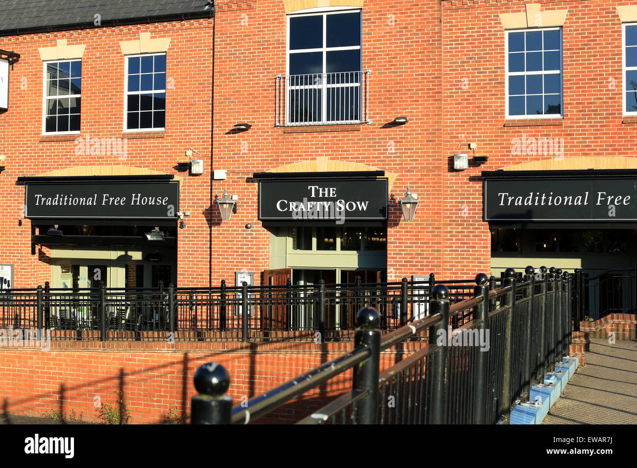 The Crafty Sow public house in Stafford - Stock Image