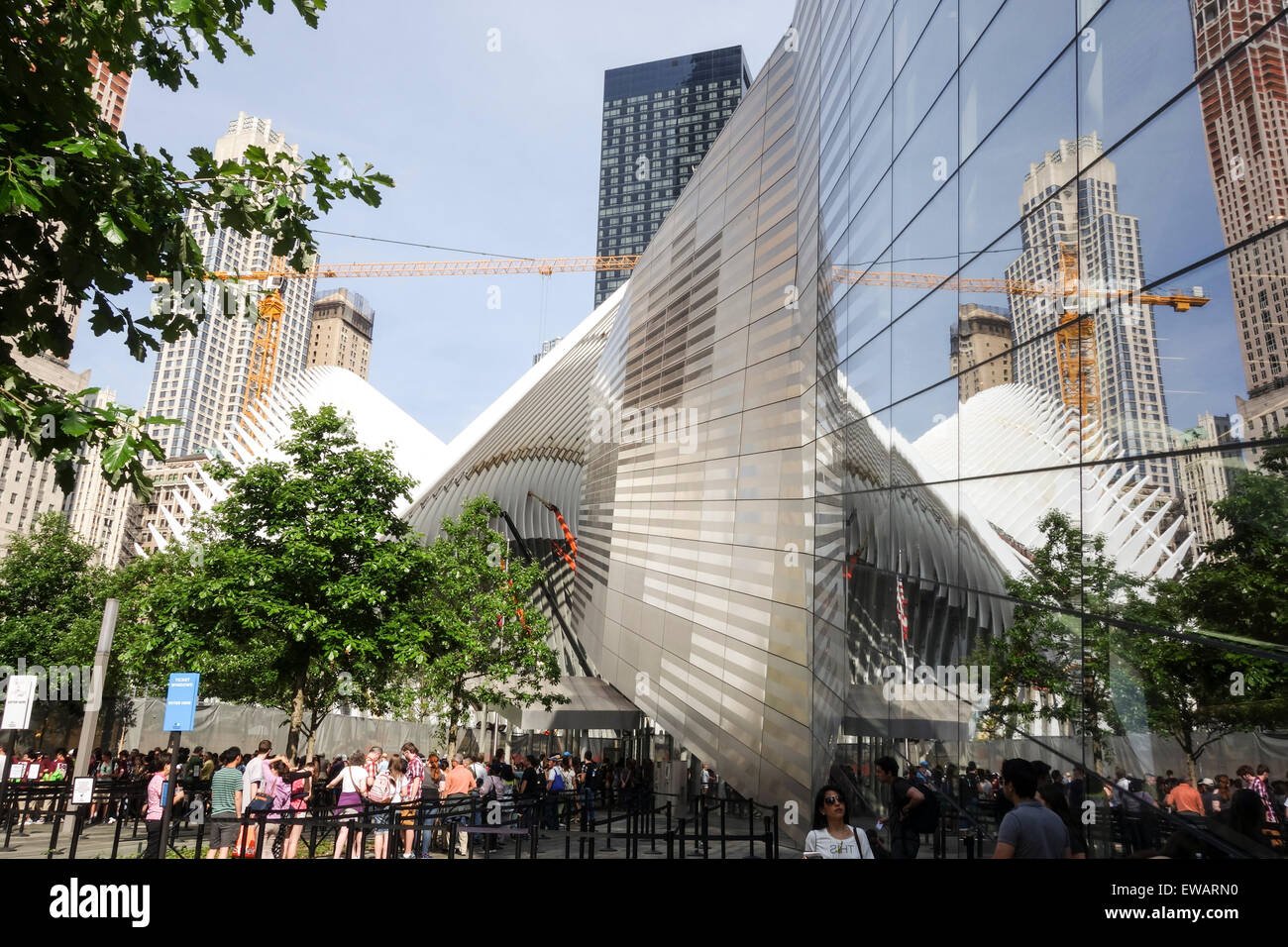 Entrance of National September 11 Memorial & Museum, New york City, USA. Stock Photo
