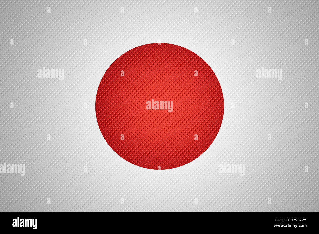 Japan flag or Japanese banner on abstract texture Stock Photo
