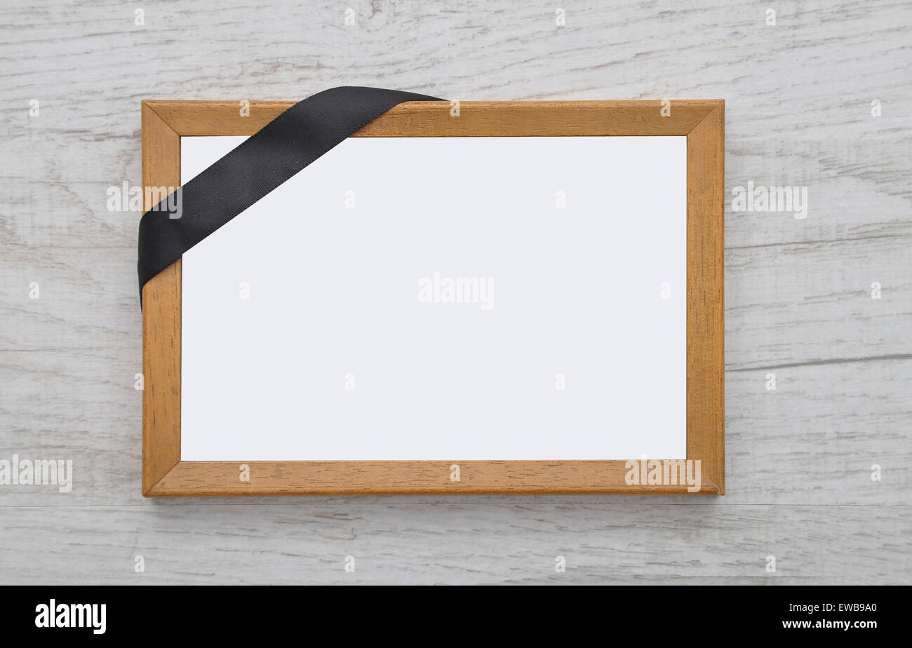 Picture frame with mourning band Stock Photo: 84456680 - Alamy