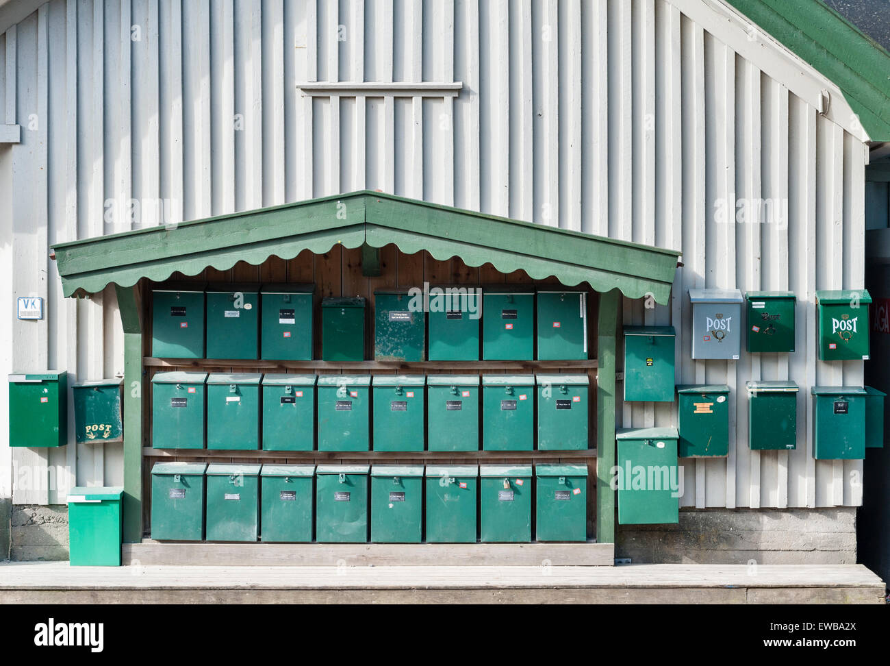 Norway - mailboxes on the island of Søndre Sandøy, one of the Hvaler islands south of Oslo near the Swedish - Stock Image