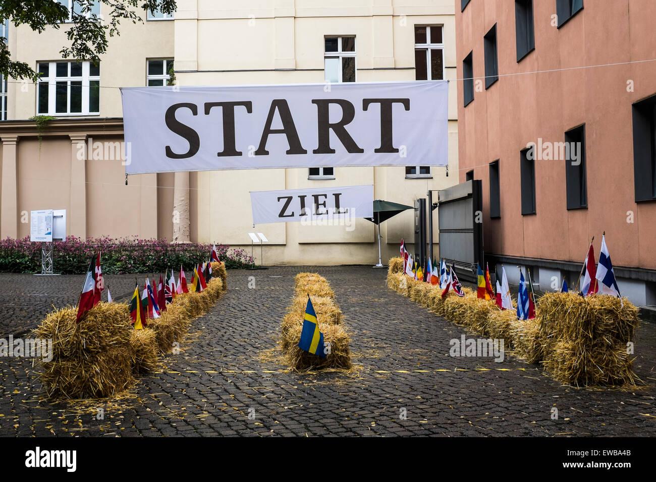 Start and finish - Stock Image