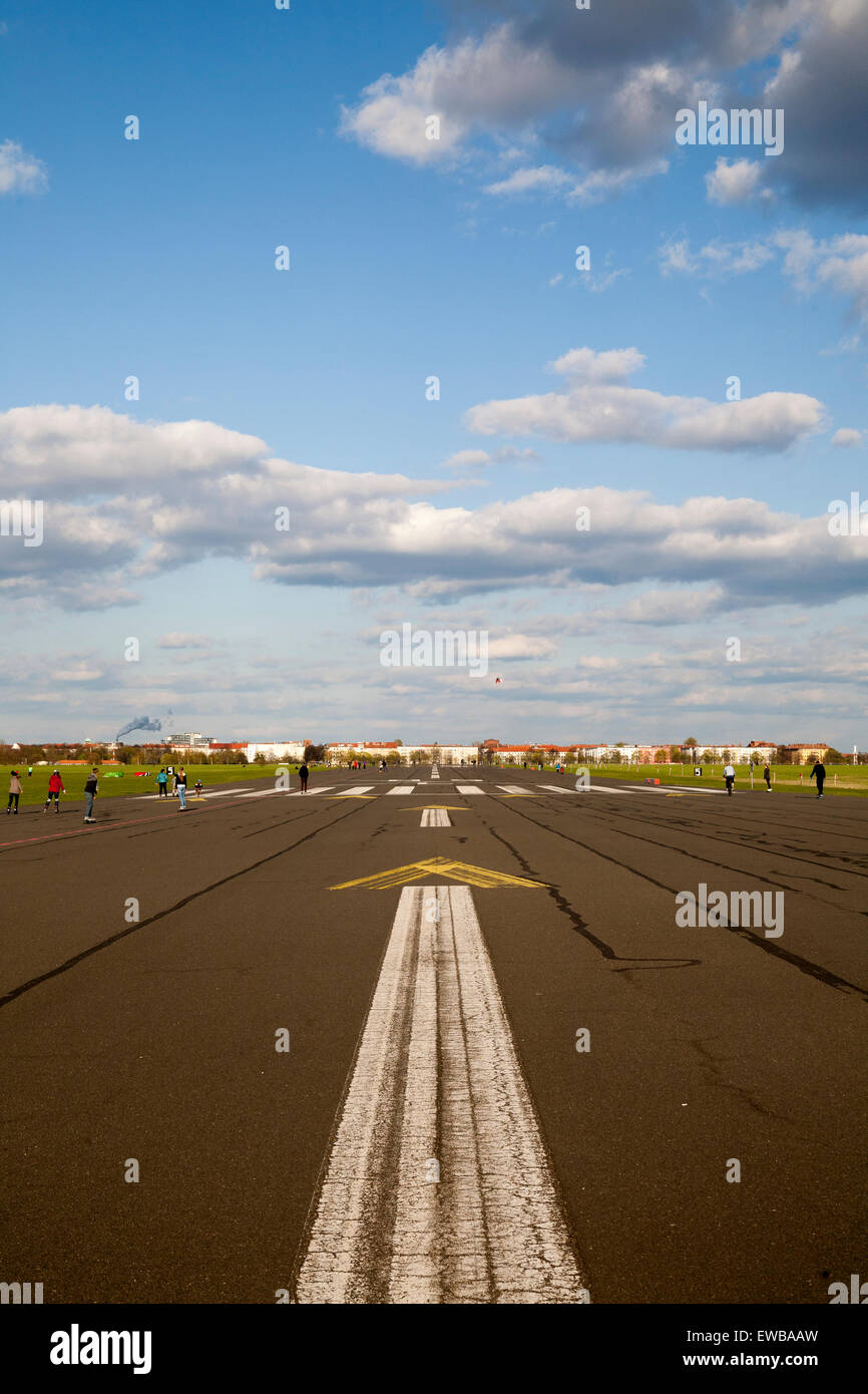 Tempelhofer Freiheit, former Airport, Berlin, Germany - Stock Image