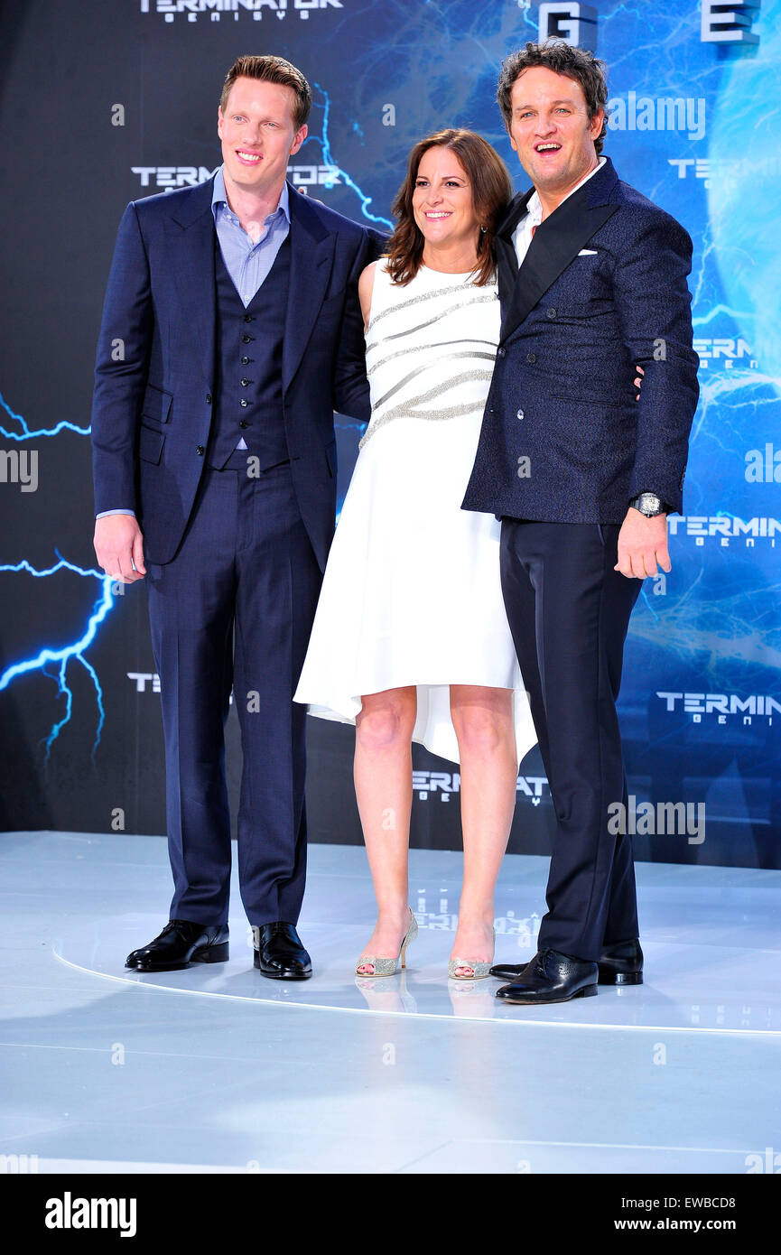 Berlin, Germany. 21st June, 2015. David Ellison, Dana Goldberg and Australian actor Jason Clarke attend the Premiere Stock Photo