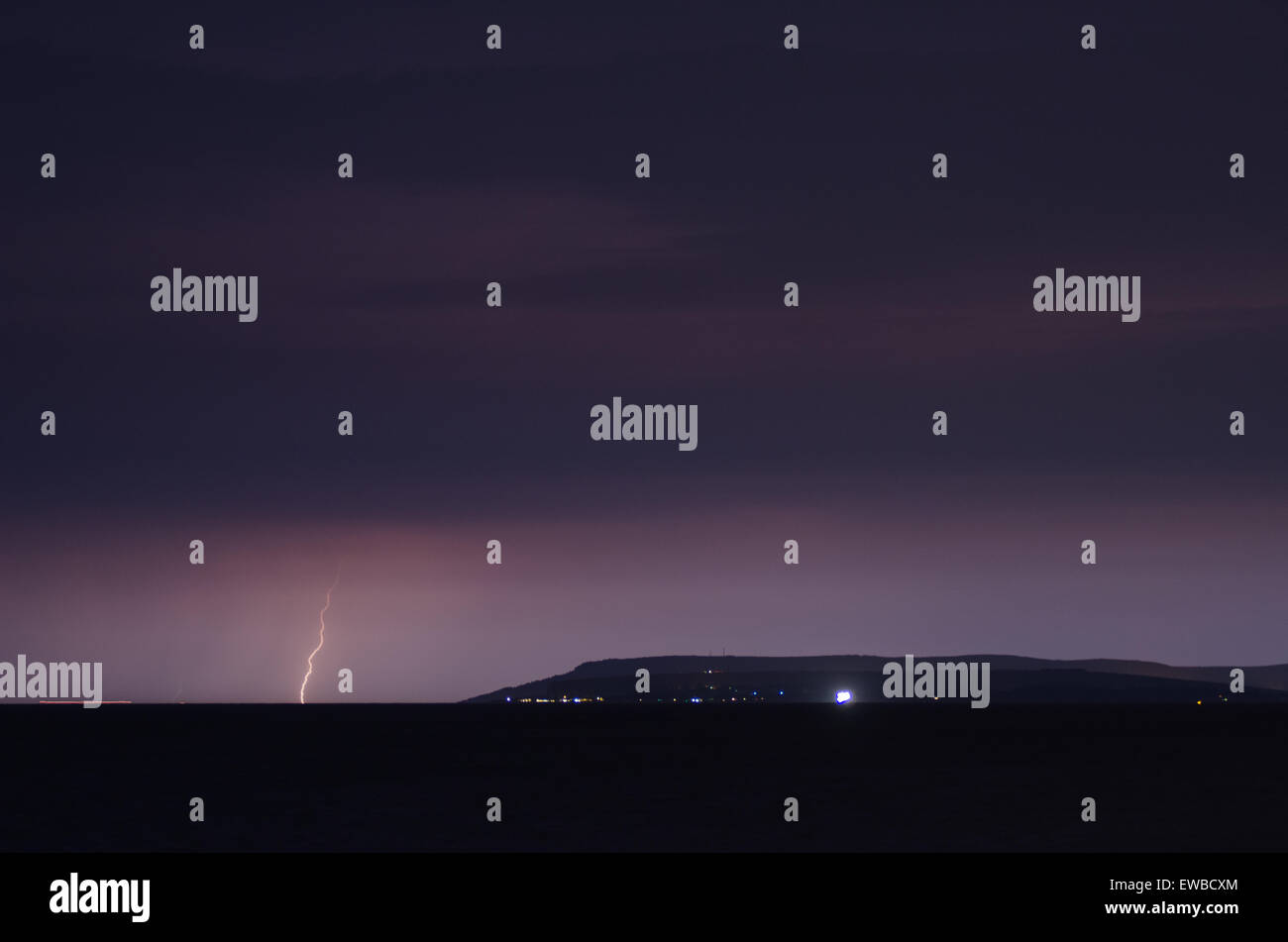 Lightning strike at Portsmouth, Hampshire, England, South UK Stock Photo