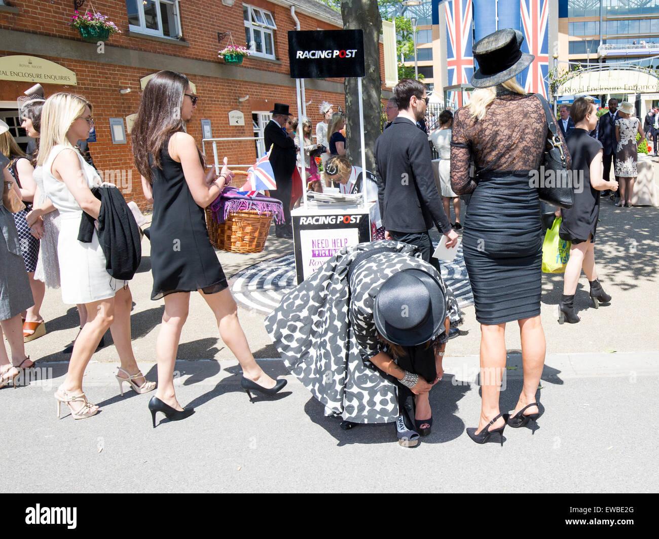 Royal Ascot Ladies Day races - Stock Image