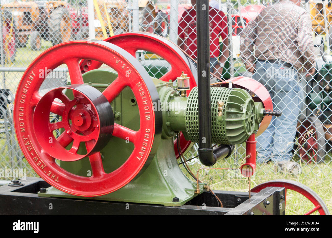 1908 New Way 6.5 hp Engine on display at the Antique Power Show in Lindsay, Ontario - Stock Image