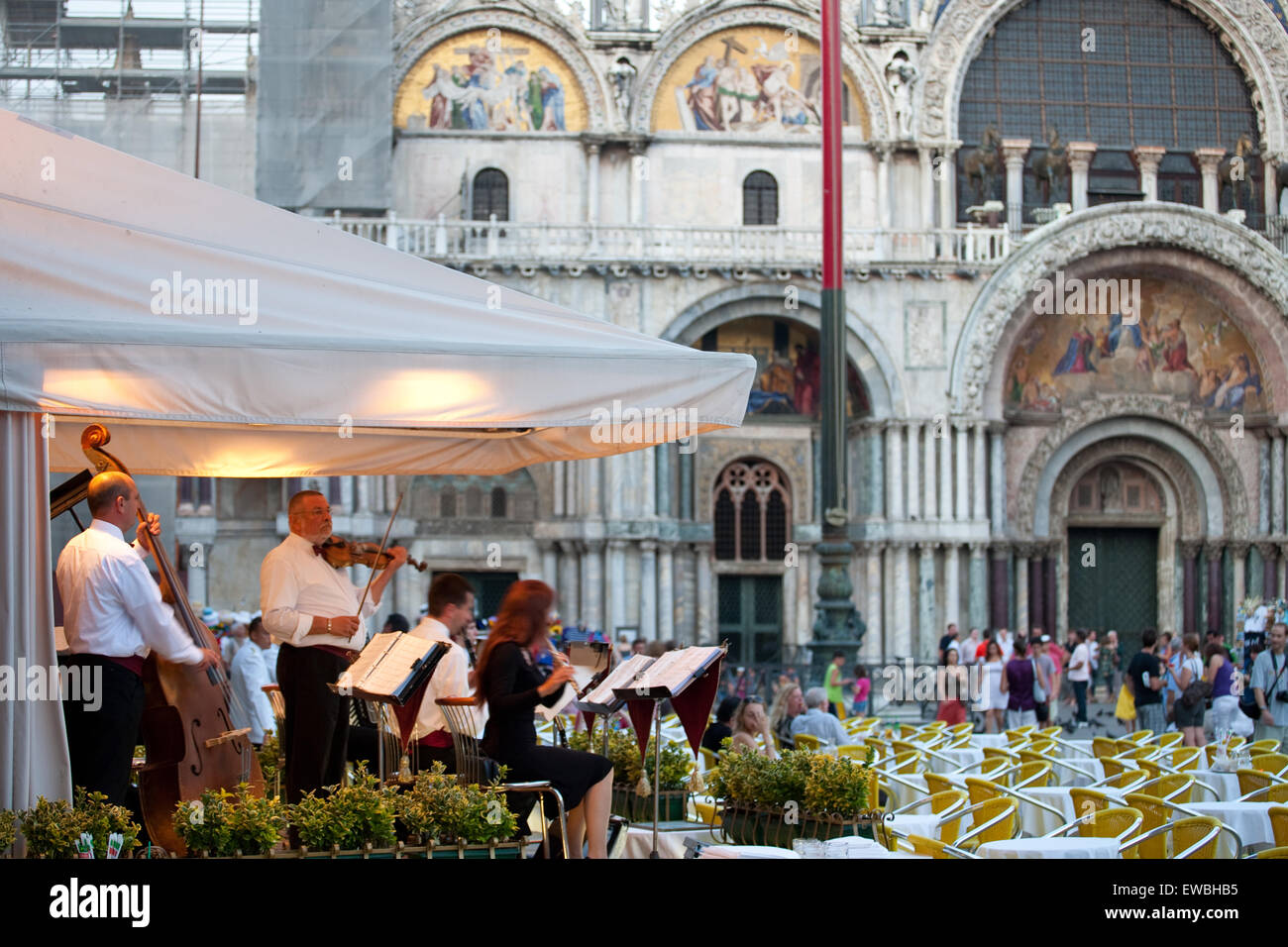 Venice, Italy. Orchestra in Piazza San Marco Stock Photo: 84462985 ...