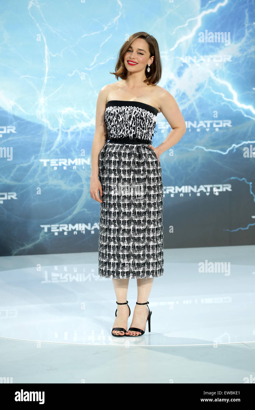 Berlin, Germany. 21st June, 2015. Actress Emilia Clarke arrives to the European premiere of the film 'Terminator Stock Photo