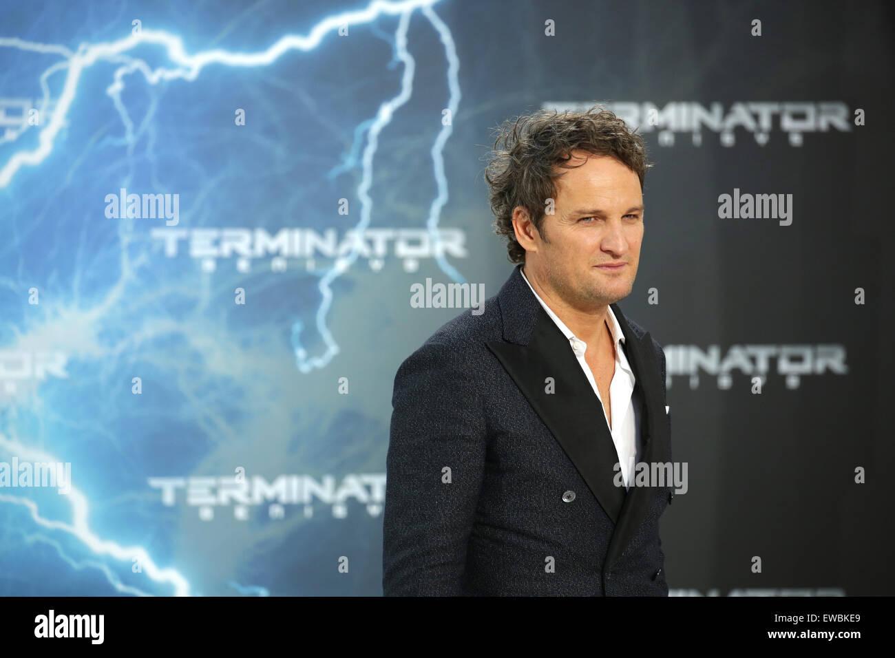Berlin, Germany. 21st June, 2015. Actor Jason Clarke arrives to the European premiere of the film 'Terminator Genisys' in Berlin, Germany, 21 June 2015. Photo: Joerg Carstensen/dpa/Alamy Live News Stock Photo