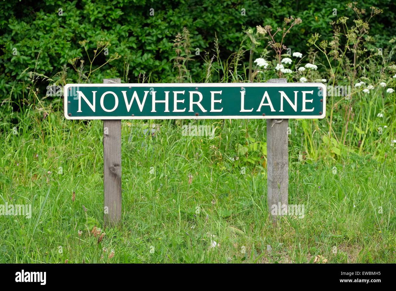 no where lane road sign, norfolk, england - Stock Image