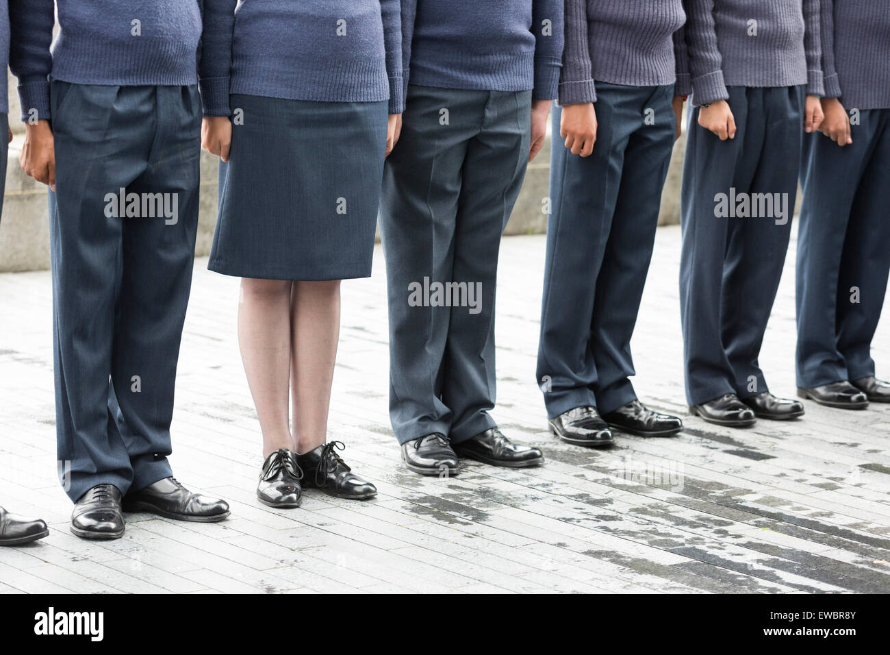 London, UK. 22 June 2015. As Royal Airforce Air Cadets line up before the event it clearly shows that women are - Stock Image