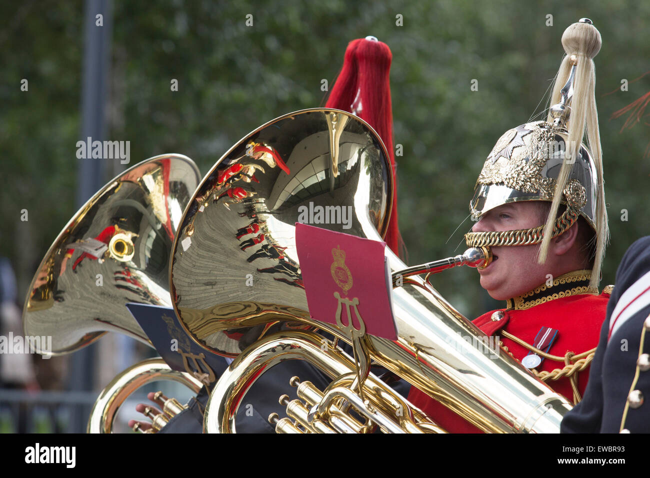 London, UK. 22 June 2015. A marching band at the event. Boris Johnson, the Mayor of London, and London Assembly - Stock Image