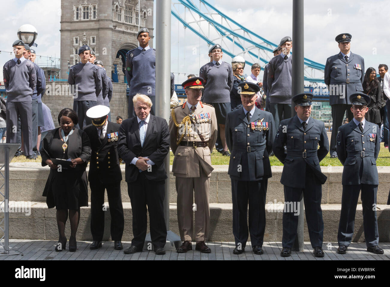 London, UK. 22 June 2015. Pictured: Boris Johnson with Jennette Arnold, Chair of the London Assembly and senior - Stock Image