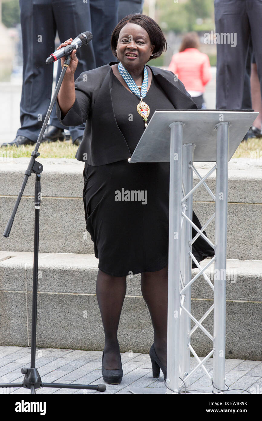 London, UK. 22 June 2015. Pictured: Jennette Arnold OBE, Chair of the London Assembly. Boris Johnson, the Mayor Stock Photo