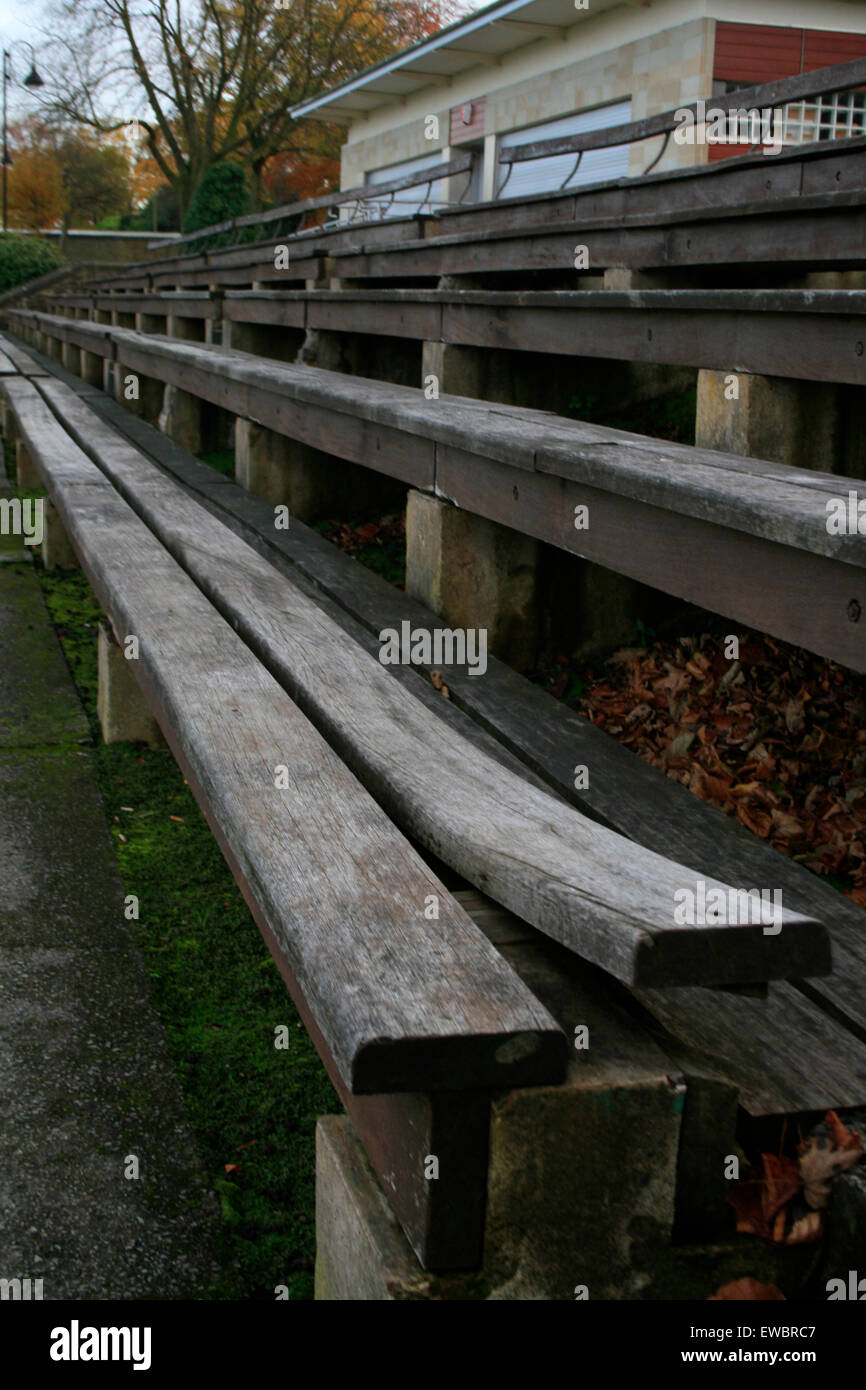 Enjoyable Warped Wooden Bench Bowling Ground Lister Park Stock Photo Gmtry Best Dining Table And Chair Ideas Images Gmtryco