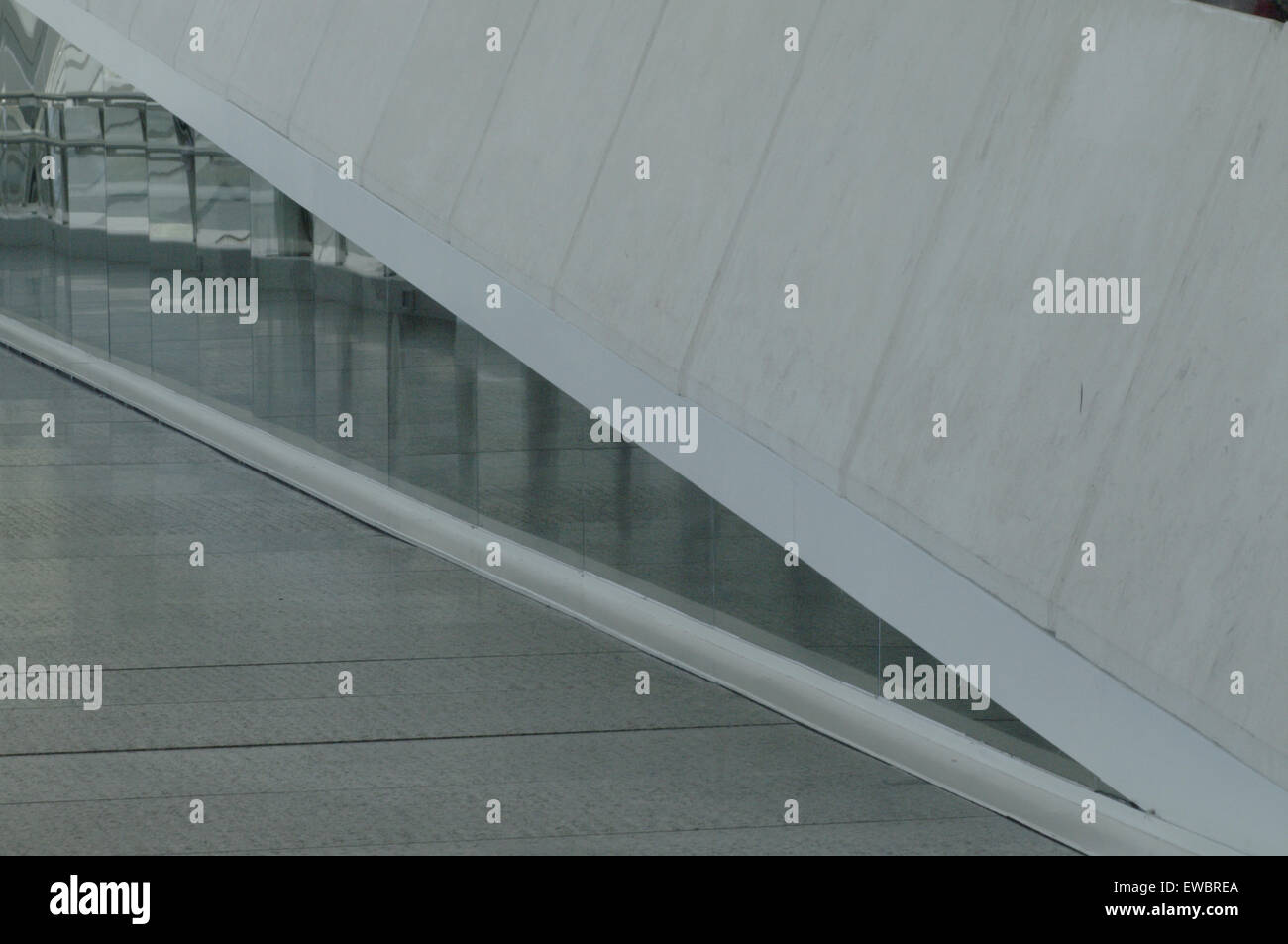 Ramp and Angles Plastic glass - Stock Image