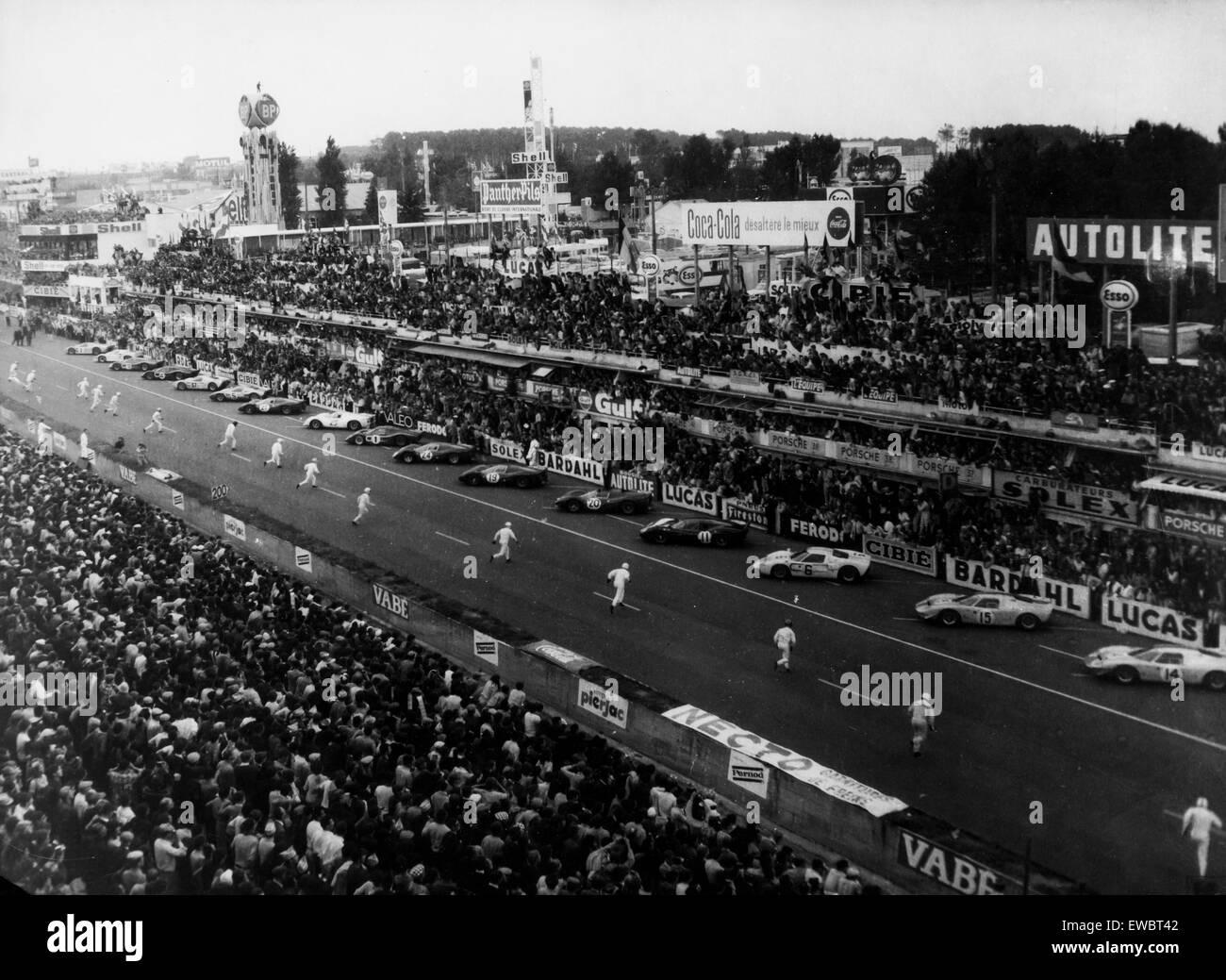 start of le mans race,1967 - Stock Image
