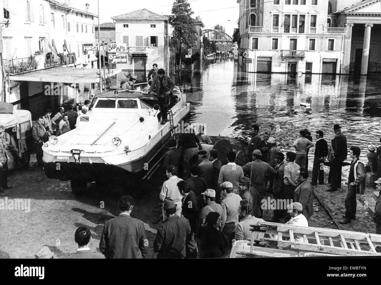 flood in modena,1973 - Stock Image