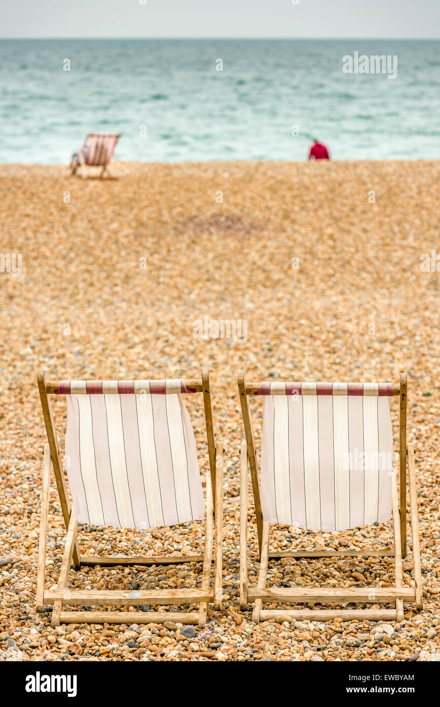 Chilling on the beach - Stock Image