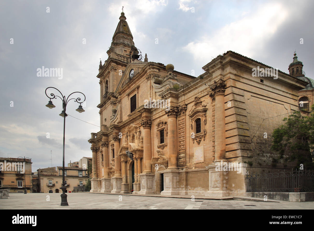 ragusa cathedral in Sicily - Stock Image