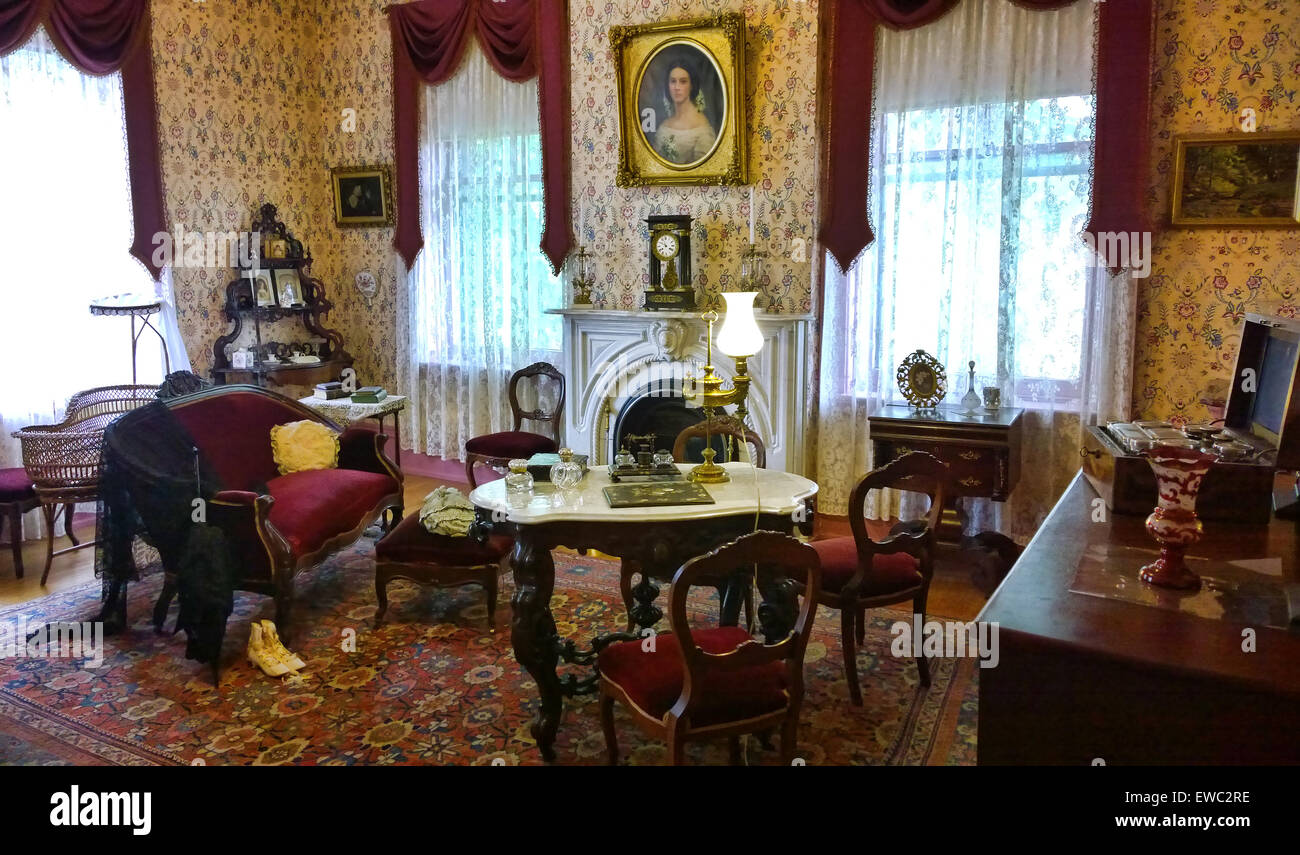 Victorian Era Sitting Room Stock Photo Alamy