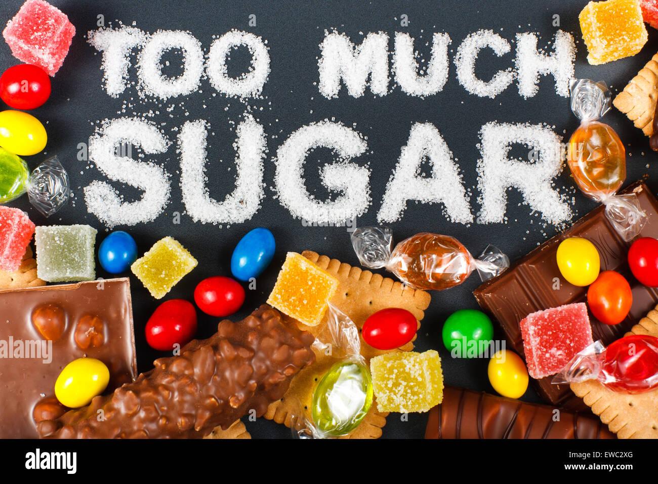 Unhealthy food concept - sugar - Stock Image