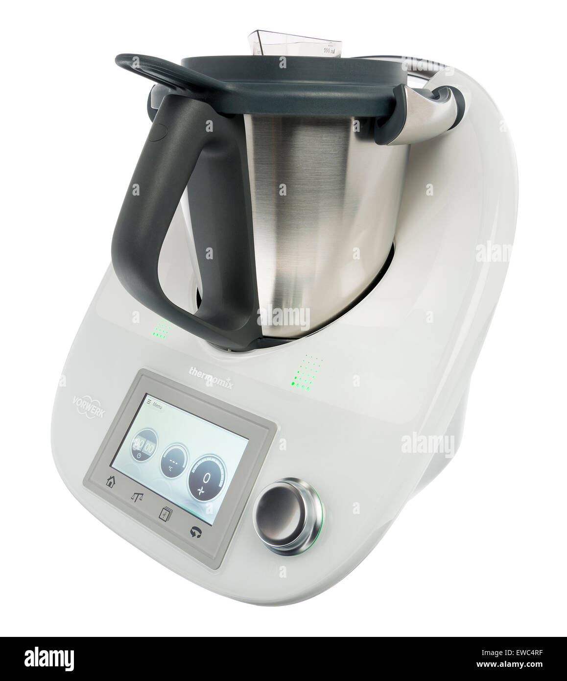 Thermomix kitchen device. Food processor. Kitchen appliance Stock ...