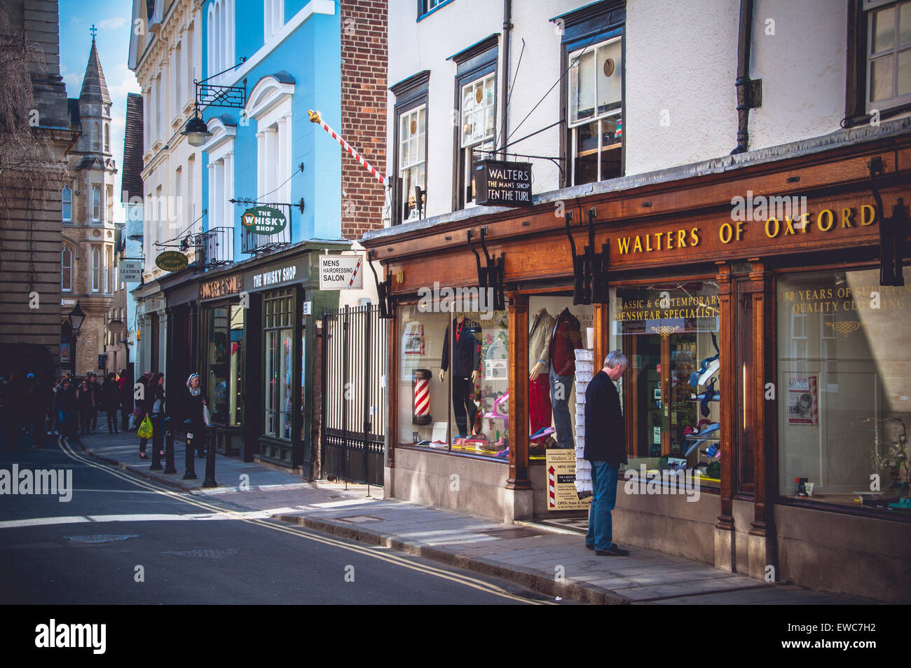 Shops and businesses of Oxford, United Kingdom - Stock Image