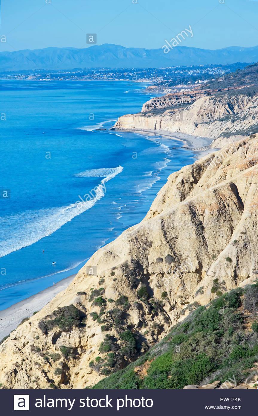 Torrey Pines state beach, San Diego, California,  USA - Stock Image