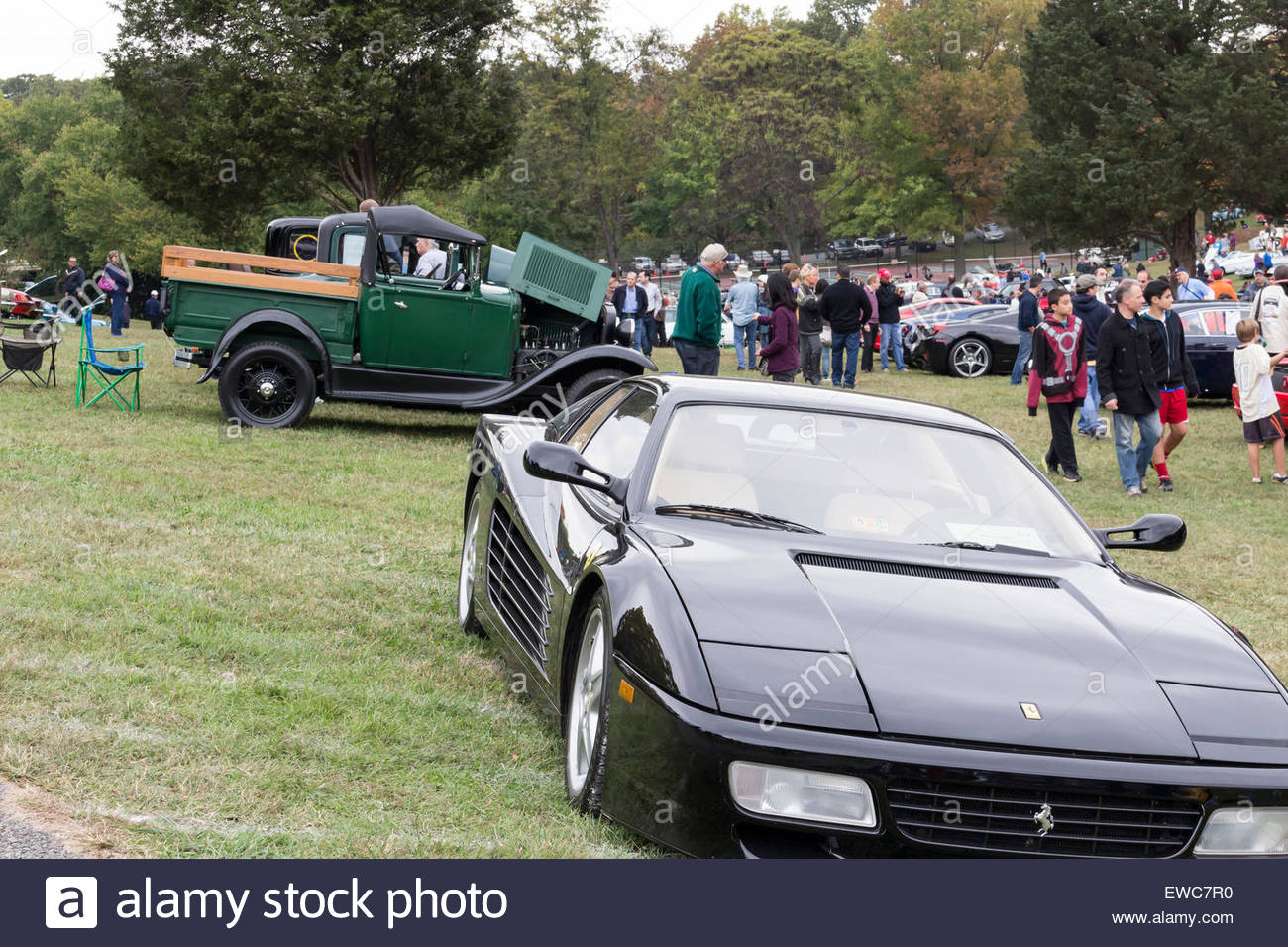 A Ferrari F512 at the 2014 Rockville Antique & Classic Car Show in ...
