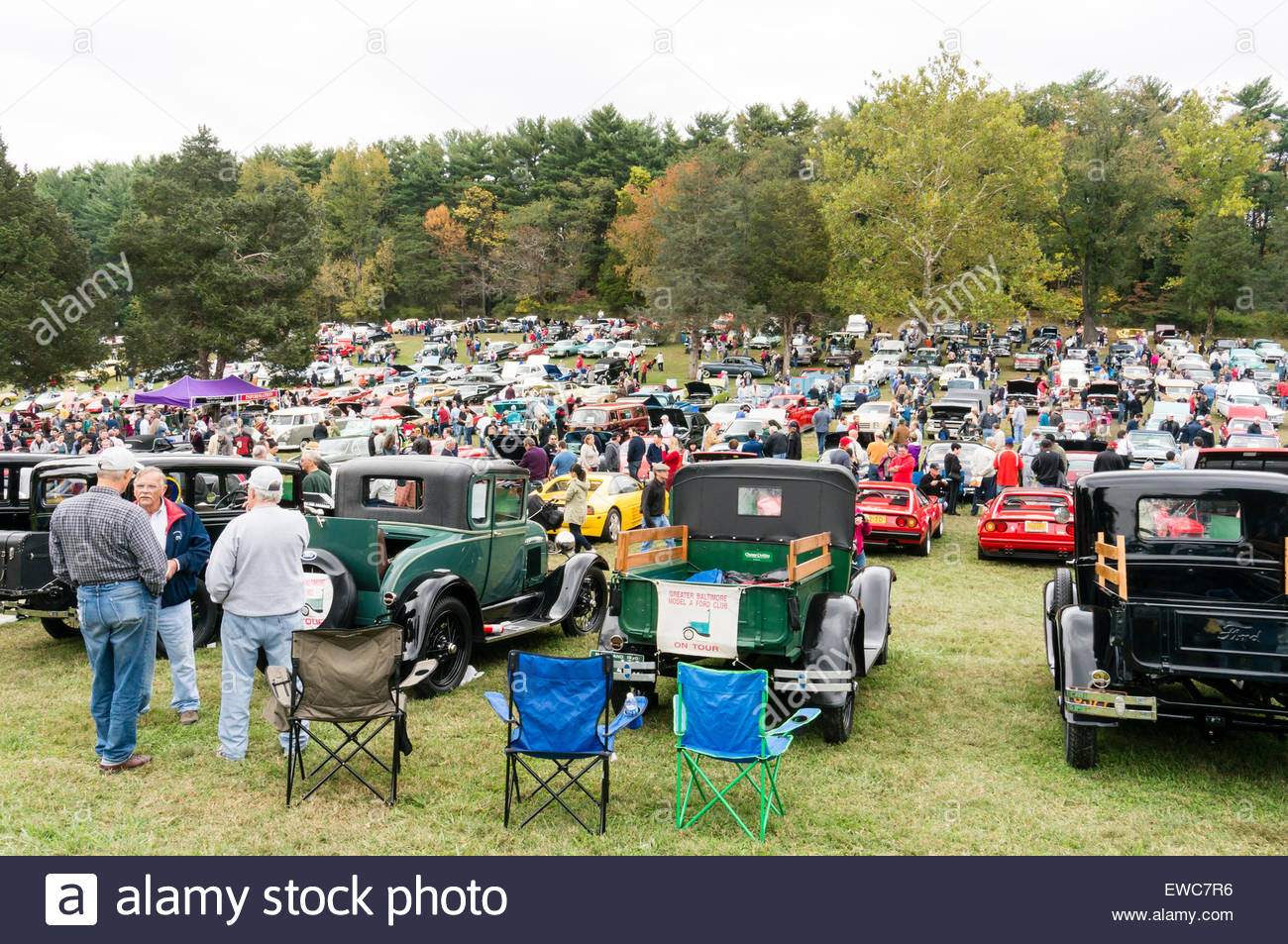 Ford 1920\'s Model A cars and trucks at the 2014 Rockville Antique ...