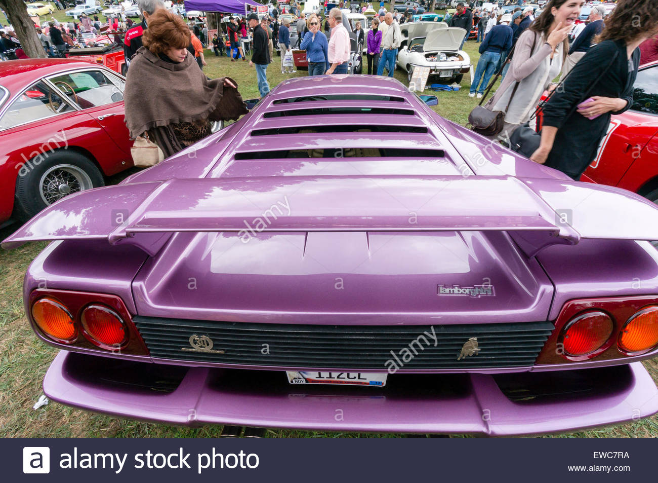 Lamborghini Diablo 30 at the 2014 Rockville Antique & Clic Car ... on purple nissan gt-r 2014, purple dodge durango 2014, purple volkswagen beetle 2014, purple corvette 2014, purple bugatti veyron 2014, purple dodge challenger 2014, purple lotus elise 2014,