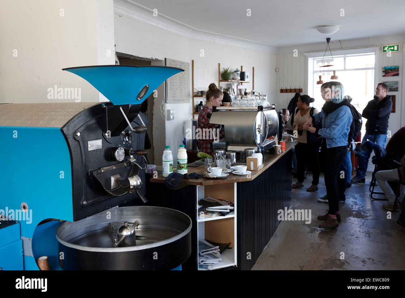 inside Reykjavik roasters coffee shop iceland - Stock Image