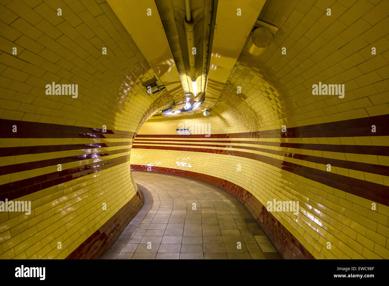 London Underground Northern Line Subway Hampstead - Stock Image