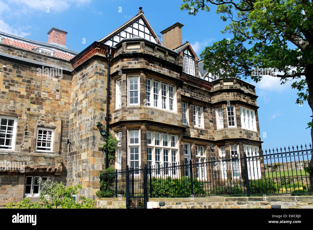 Exterior of a traditional English manor house. - Stock Image