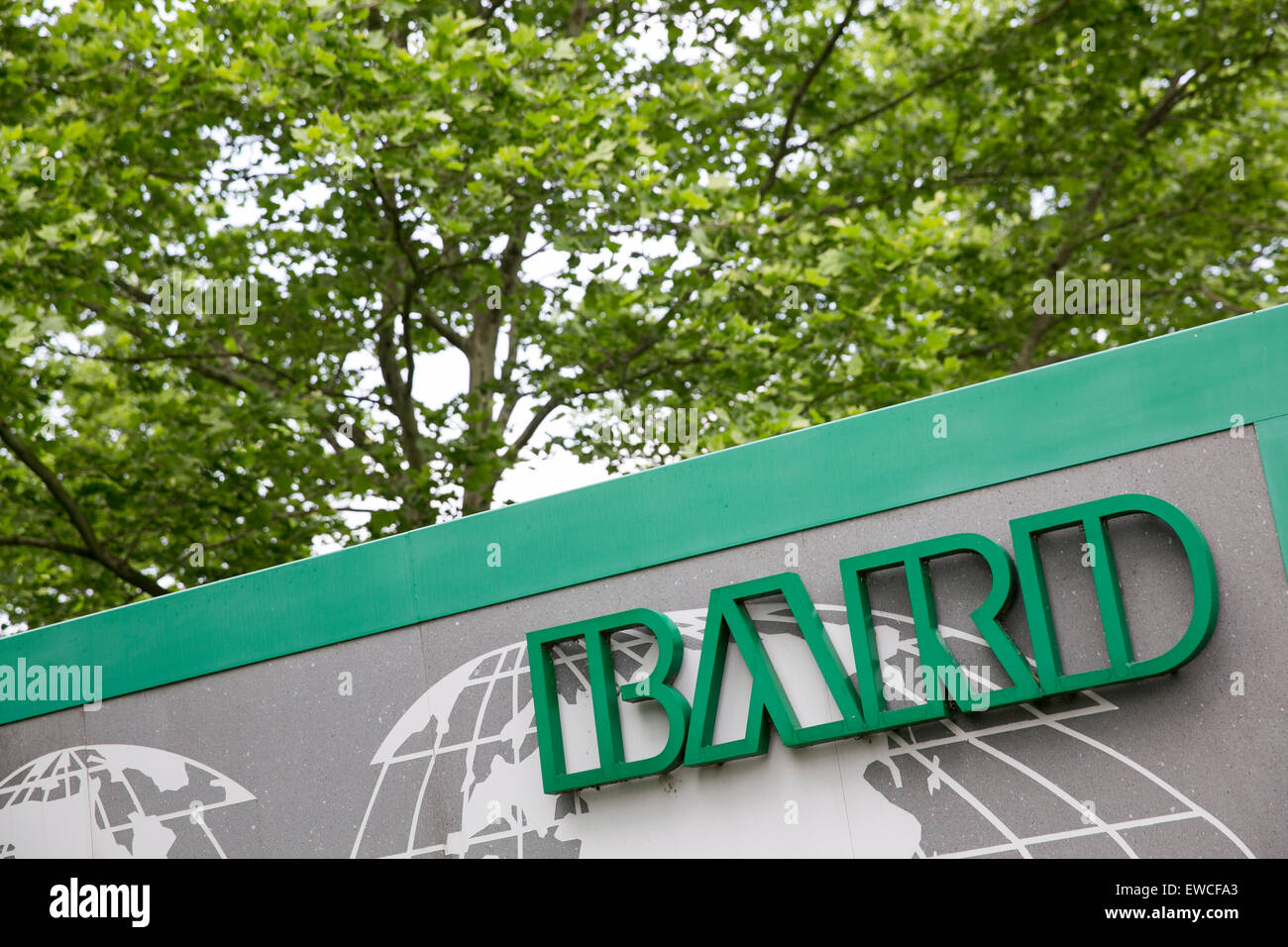 A logo sign outside of the headquarters of C. R. Bard, Inc., in New Providence, New Jersey. - Stock Image