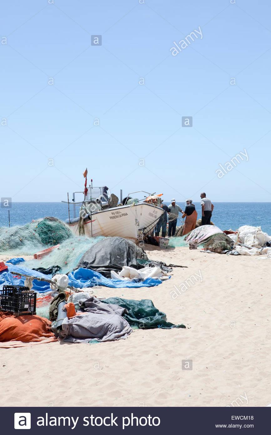 Armacao de Pera fishing village - Stock Image