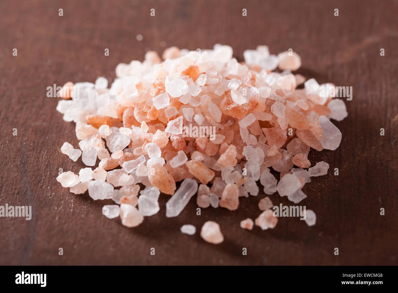 pink himalayan salt - Stock Image