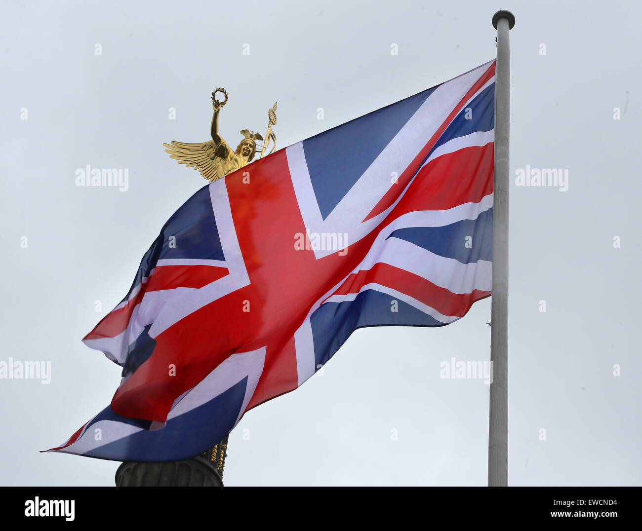 berlin germany 23rd june 2015 the flag of great britain waves in